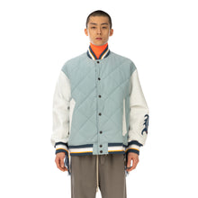 將圖像加載到畫廊查看器中FACETASM | Quilted Varsity Jacket Blue