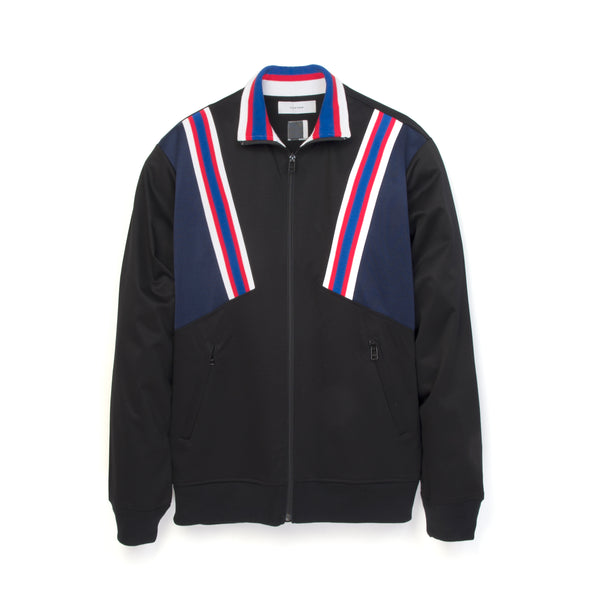 FACETASM Rib Football Track Jacket Black