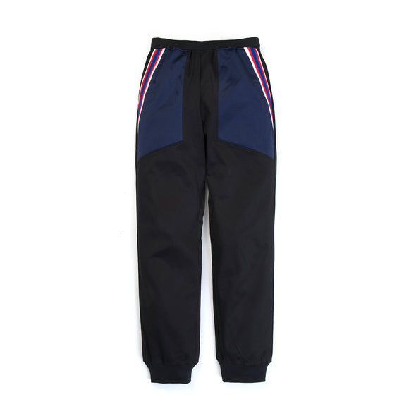 FACETASM | Rib Football Track Pants Black - Concrete