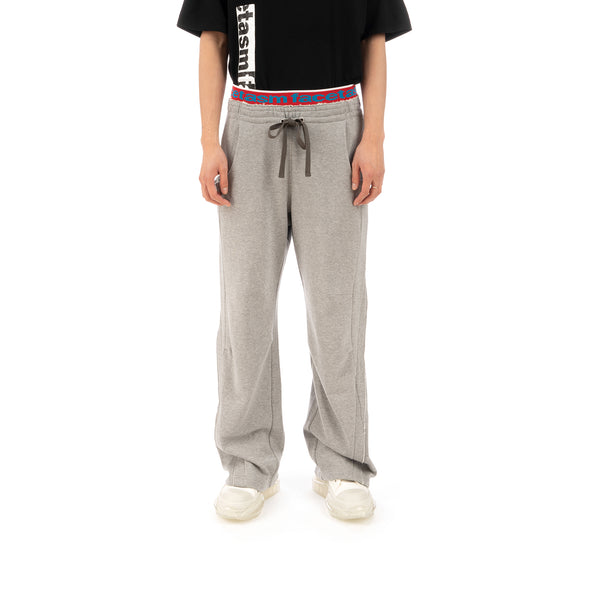 FACETASM | Rib Sweatpants Gray - Concrete