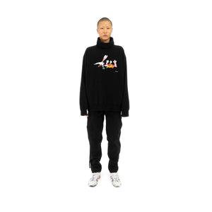 FACETASM | Roger Rabbit Neck Sweatshirt Black - Concrete