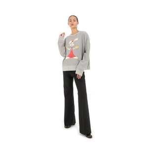 FACETASM | Roger Rabbit Sweatshirt Gray - Concrete