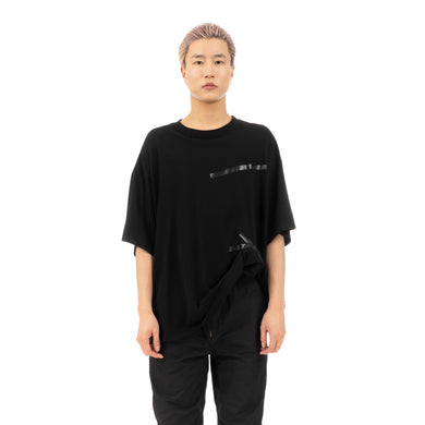 FACETASM | Sellotape Big T-Shirt Black