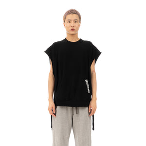 FACETASM | Sleeveless Sweat Black - Concrete