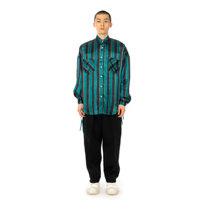 FACETASM | University Striped Shirt Green