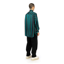 Load image into Gallery viewer, FACETASM | University Striped Shirt Green
