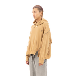 FACETASM | Zipper Big Hoodie Beige - Concrete