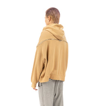將圖像加載到畫廊查看器中FACETASM | Zipper Big Hoodie Beige - Concrete