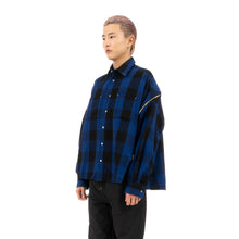 Load image into Gallery viewer, FACETASM | Zipper Check Shirt Blue