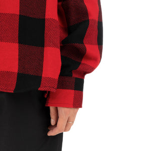 FACETASM | Zipper Check Shirt Red