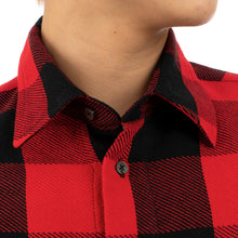 Load image into Gallery viewer, FACETASM | Zipper Check Shirt Red