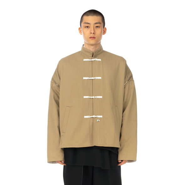 FACETASM | x Dickies Kung Fu Jacket Beige - Concrete