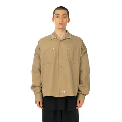 FACETASM | x Dickies Zipper Shirt Beige