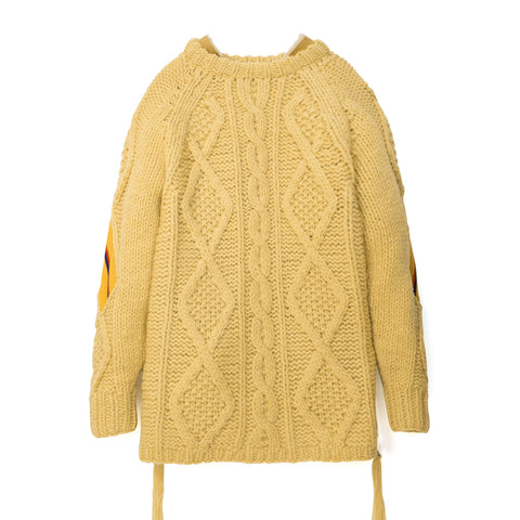 FACETASM Rib Hand Knit Sweater Yellow