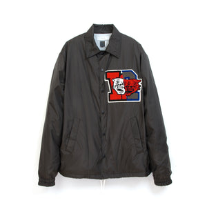 FACETASM College Coach Jacket Black - Concrete