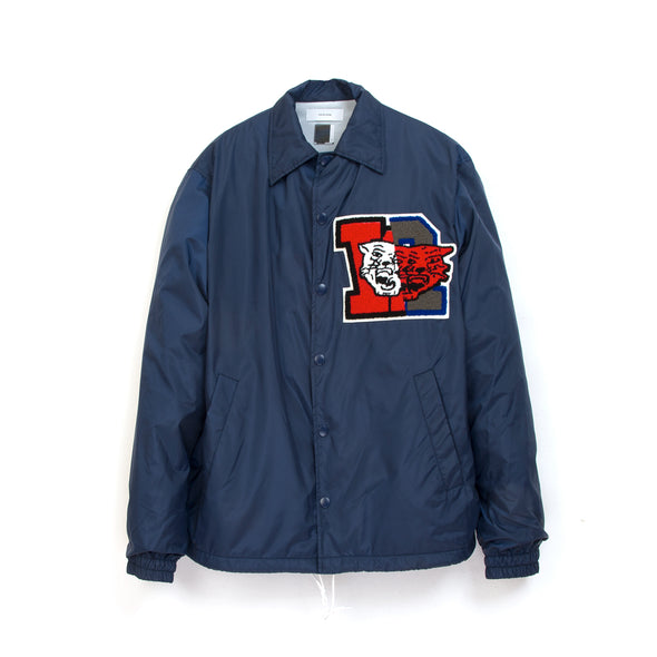 FACETASM | College Coach Jacket Navy - Concrete