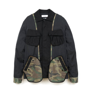 FACETASM | Camo Mix M-65 Jacket Black - Concrete