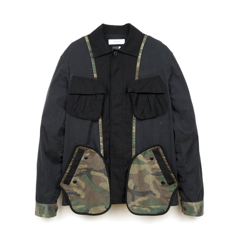 FACETASM Camo Mix M-65 Jacket Black