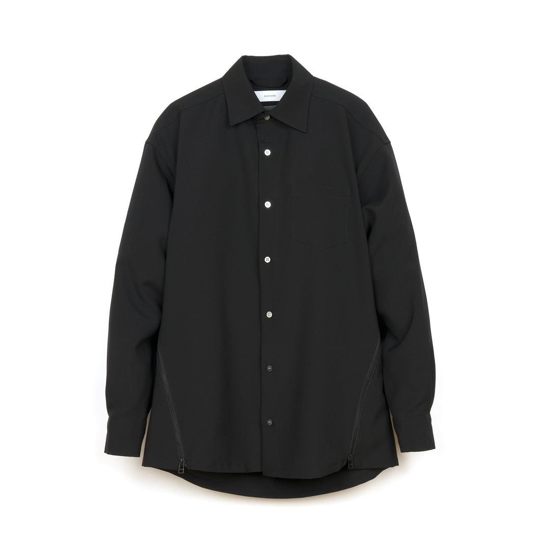 FACETASM Wool Shirt Black - Concrete