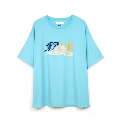 FACETASM Mix Face Big T-Shirt Blue