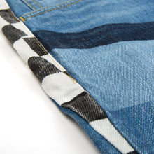 將圖像加載到畫廊查看器中FACETASM | Checker Flag Denim Pant Indigo - Concrete