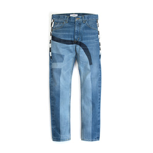FACETASM Checker Flag Denim Pant Indigo