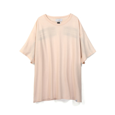 FACETASM Rib Big T-Shirt Pink