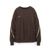 FACETASM Rib Trainer Pullover Sweat Brown