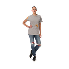 Load image into Gallery viewer, FACETASM | W Tape Basic T-Shirt Grey - Concrete