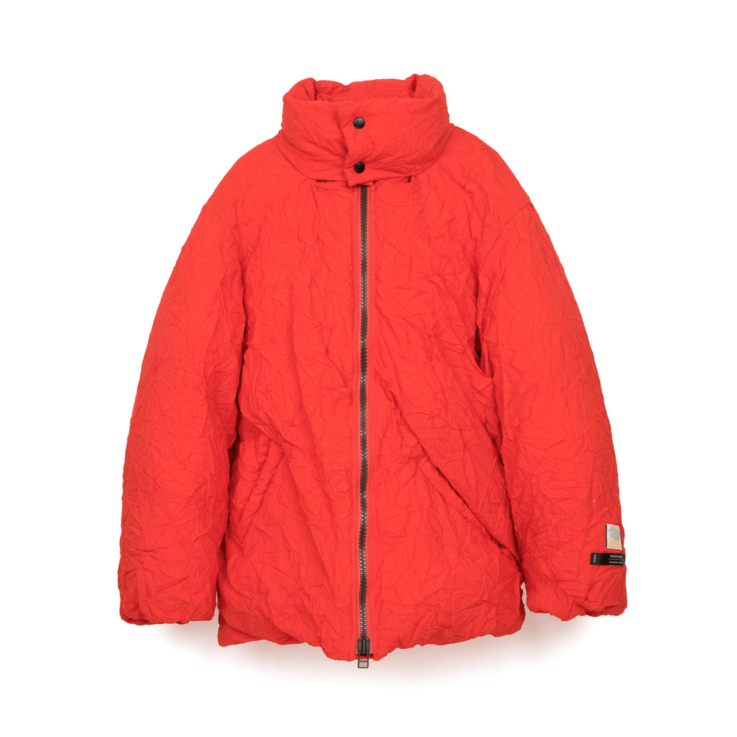 FACETASM | W Twisted Down Jacket Red - Concrete