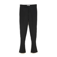 Load image into Gallery viewer, FACETASM | W Wool Slit Pants Black - Concrete