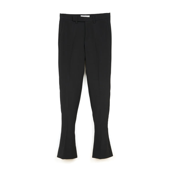 FACETASM | W Wool Slit Pants Black - Concrete