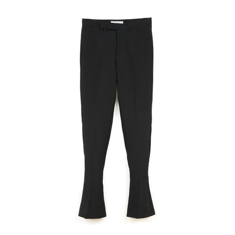 FACETASM W Wool Slit Pants Black
