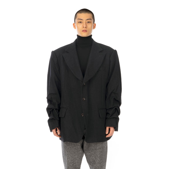 FACETASM | Super Big Jacket Charcoal - Concrete
