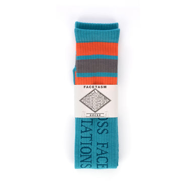 FACETASM | Skater Socks Blue