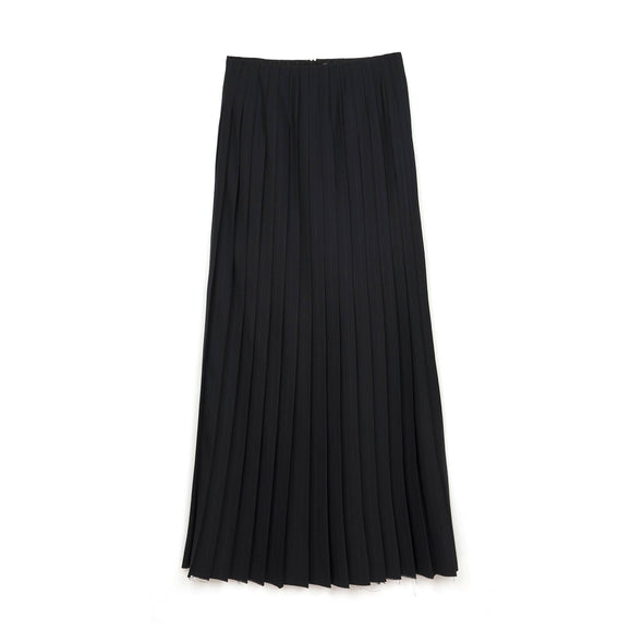 FACETASM | W Wool Skirt Black - Concrete