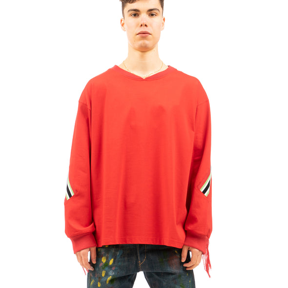 FACETASM | Soccer Rib Long T-Shirt Red - Concrete