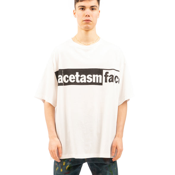 FACETASM | Logo Big T-Shirt White - Concrete