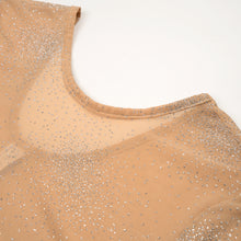 將圖像加載到畫廊查看器中FANTABODY 'Erika' L/S Body Tulle Strass Body Nude