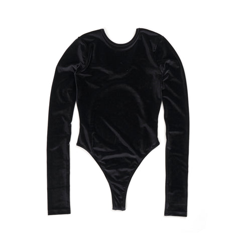FANTABODY 'Erika' L/S Body Velvet Black