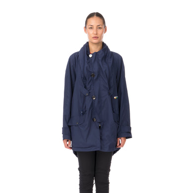 Final Home | Double Cloth Jacket Navy - Concrete