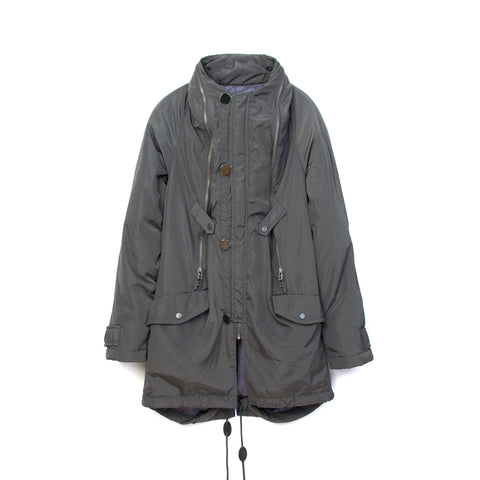 Final Home 100% Nylon Coat Gray
