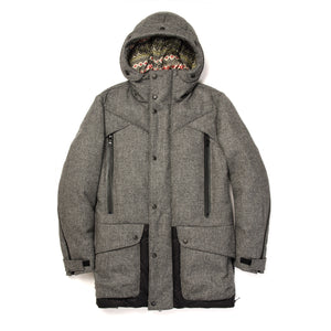 Griffin Down Parka Bareskin Black - Concrete