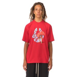 GarbageTV | Hard Core Vibes T-Shirt Red - Concrete