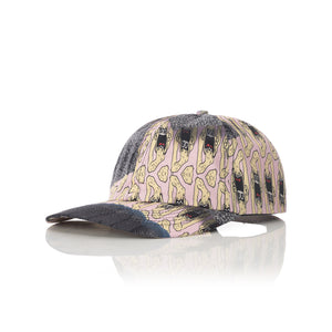 GarbageTV | Roped - Tech Cap Print Pink - Concrete
