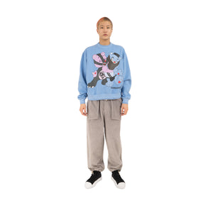 GarbageTV Bondage Sweater Baby Blue