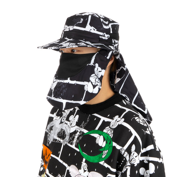 GarbageTV Cover Up Hat Bear Brick / Black
