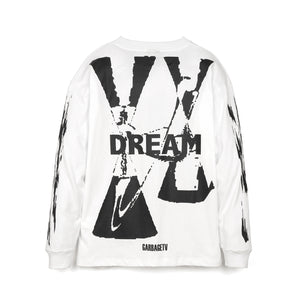 GarbageTV Roberts Dream L/S T-Shirt White