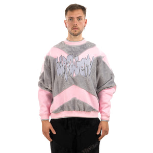 GarbageTV | Jumping Jupiter Sweater Pink / Grey - Concrete