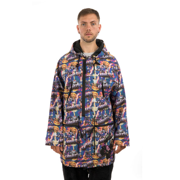 GarbageTV Smash It Anorak Monster Print